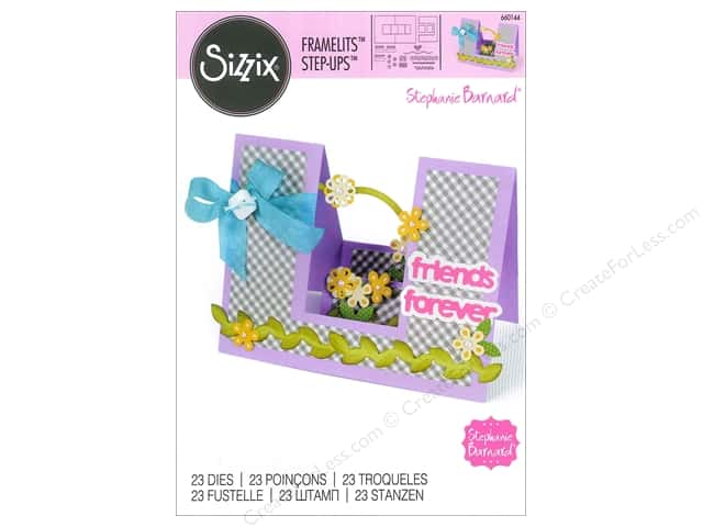 Sizzix Framelits Die Set 23 pc. Friends Forever Step-Ups Card
