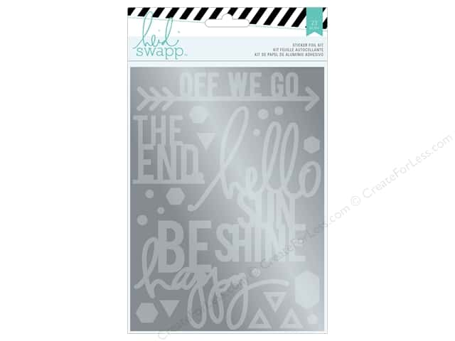 Heidi Swapp Wanderlust Sticker Foil Kit Sentiment Silver