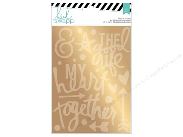 Heidi Swapp Wanderlust Sticker Foil Kit Together Gold
