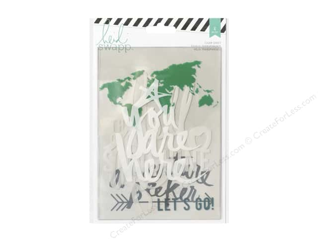 Heidi Swapp Wanderlust Memory Binder Clear Sheets 5 x 7 in. 6 pc.