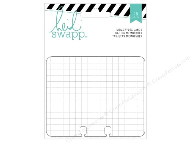 Heidi Swapp Wanderlust Memorydex Cards 18 pc. Patterned