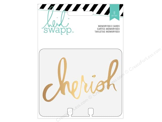 Heidi Swapp Wanderlust Memorydex Clear Cards 8 pc. Gold Foil