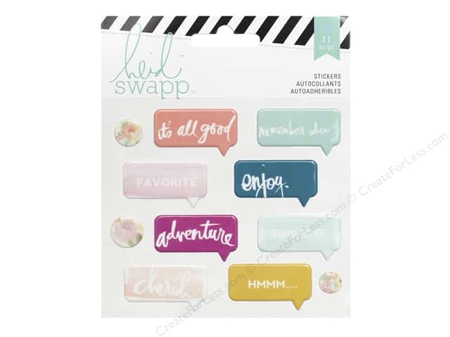 Heidi Swapp Puffy Stickers Wanderlust Speech Bubble