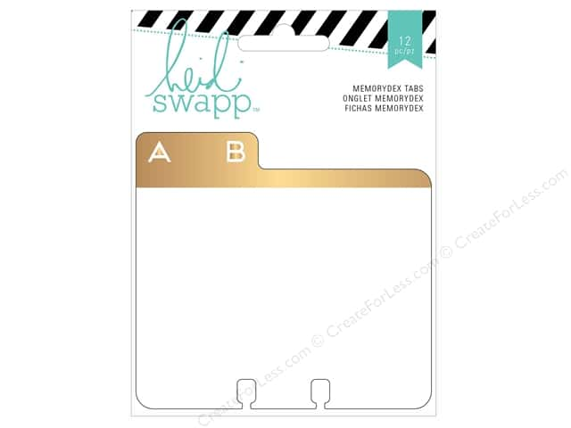 Heidi Swapp Wanderlust Memorydex Address Book Cards with Alpha Tabs