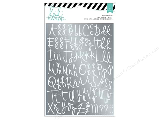 Heidi Swapp Wanderlust Rub On Foil Kit Alphabet Silver