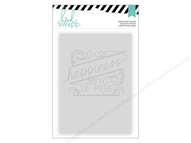 Heidi Swapp Wanderlust Embossing Folders 5 x 7 in. Happiness