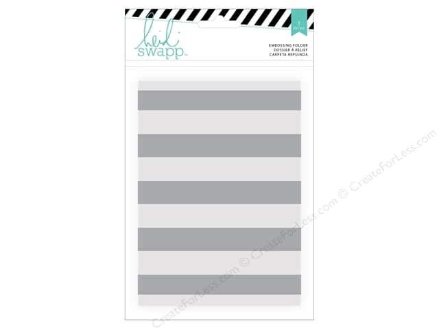 Heidi Swapp Wanderlust Embossing Folders 5 x 7 in. Stripe