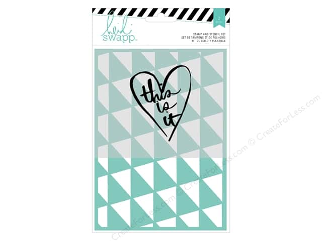 Heidi Swapp Wanderlust Stamp & Stencil Set This Is It