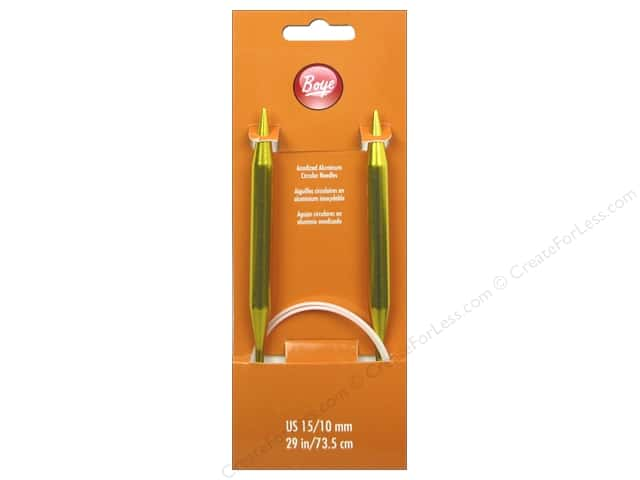 Boye Circular Knitting Needles Aluminum 29 in. Size 15 (10 mm)