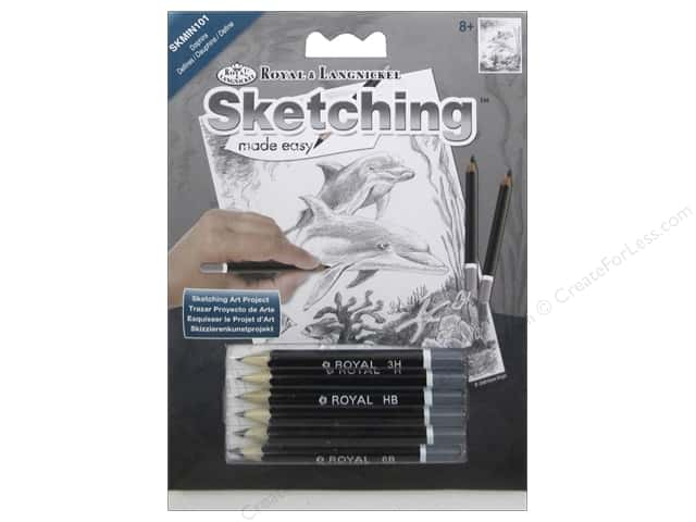 Royal Sketching Made Easy Mini Dolphins