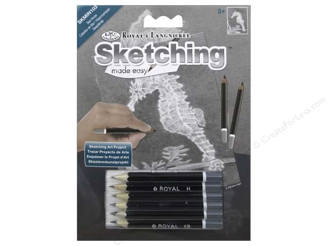 Royal Sketching Made Easy Mini Seahorse