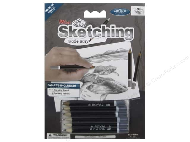 Royal Sketching Made Easy Mini Whales