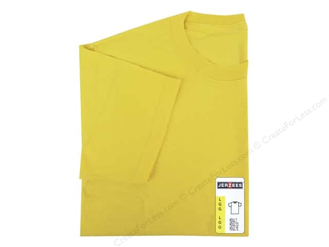 Jerzees T Shirt Adult Large Island Yellow