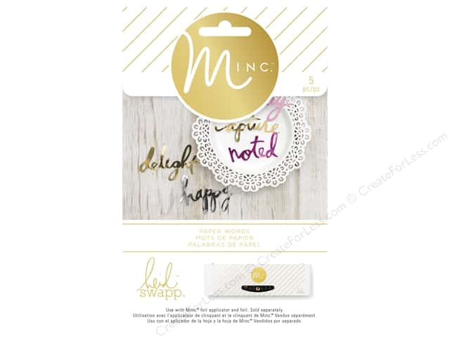 Heidi Swapp Minc Die Cuts Words 5 pc.