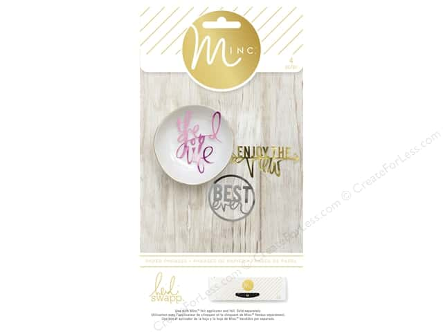 Heidi Swapp Minc Die Cut Phrases 4 pc.