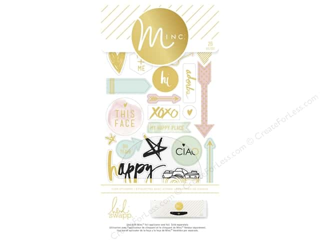 Heidi Swapp Minc Icon Stickers 26 pc.