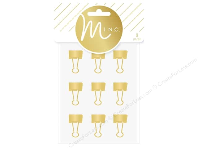 Heidi Swapp Minc Binder Clips 9 pc. Gold