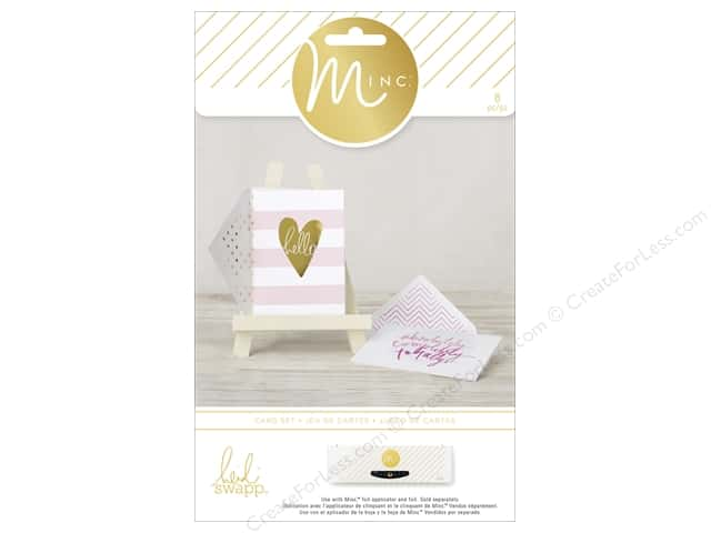Heidi Swapp Minc Card & Envelopes 4 pc. Hello Stripes
