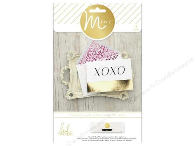 Heidi Swapp Minc Card & Envelopes 4 pc. XOXO