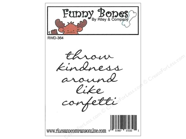 Riley & Company Cling Stamps Funny Bones Throw Kindness