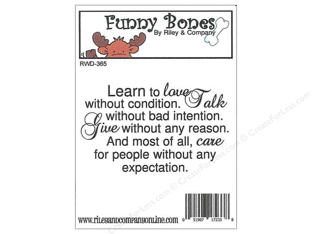 Riley & Company Cling Stamps Funny Bones Learn To Love