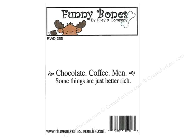 Riley & Company Cling Stamps Funny Bones Chocolate Coffee Man