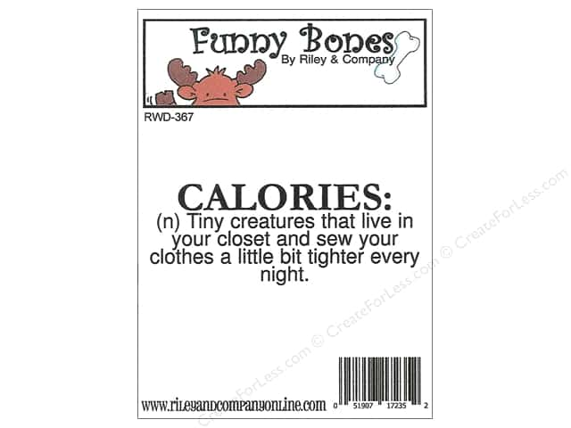 Riley & Company Cling Stamps Funny Bones Calories