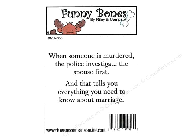 Riley & Company Cling Stamps Funny Bones Marriage Advice