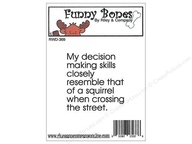 Riley & Company Cling Stamps Funny Bones Squirrel