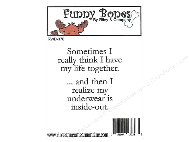 Riley & Company Cling Stamps Funny Bones Underwear