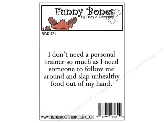 Riley & Company Cling Stamps Funny Bones Personal Trainer