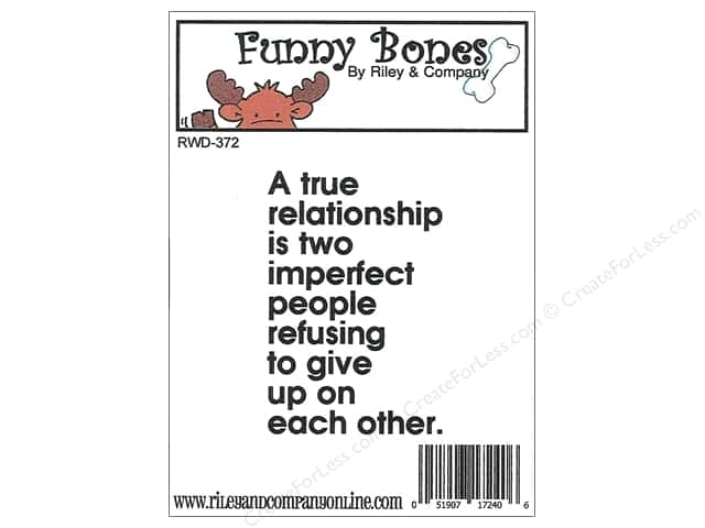 Riley & Company Cling Stamps Funny Bones A True Relationship