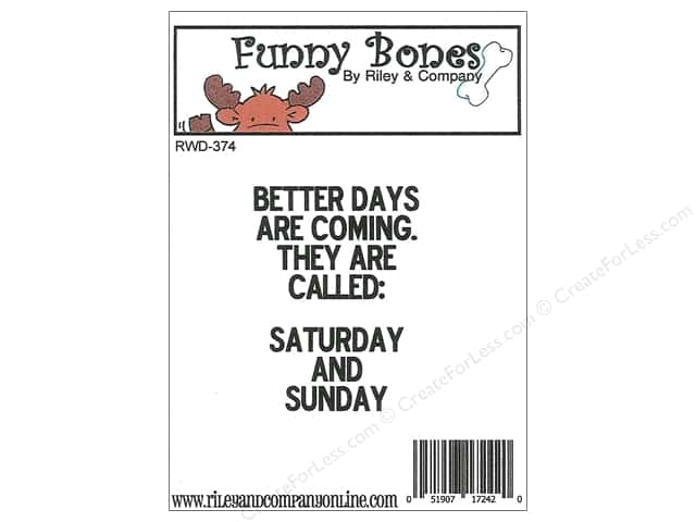 Riley & Company Cling Stamps Funny Bones Better Days