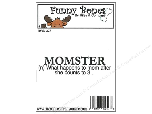 Riley & Company Cling Stamps Funny Bones Momster