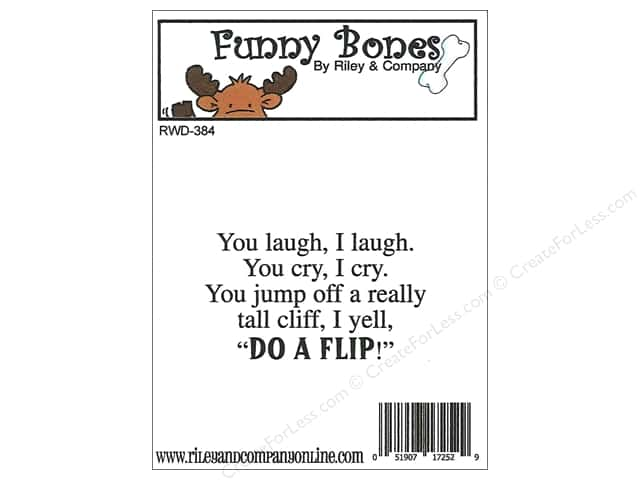 Riley & Company Cling Stamps Funny Bones You Laugh I Laugh