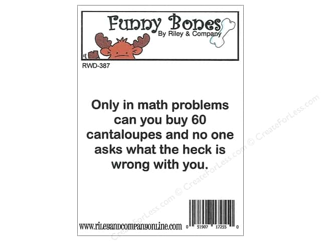Riley & Company Cling Stamps Funny Bones Math Problems