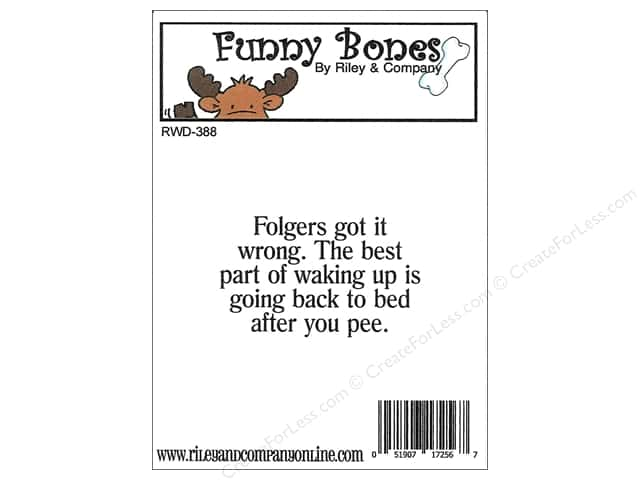 Riley & Company Cling Stamps Funny Bone Folgers