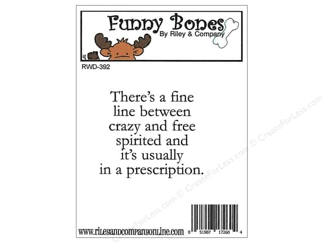 Riley & Company Cling Stamps Funny Bones Fine Line