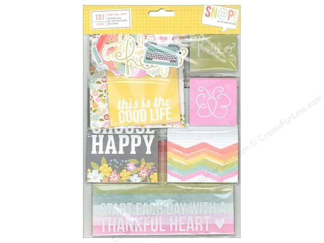 Simple Stories Bits & Pieces SN@P! Pack Cards & Squares Happy