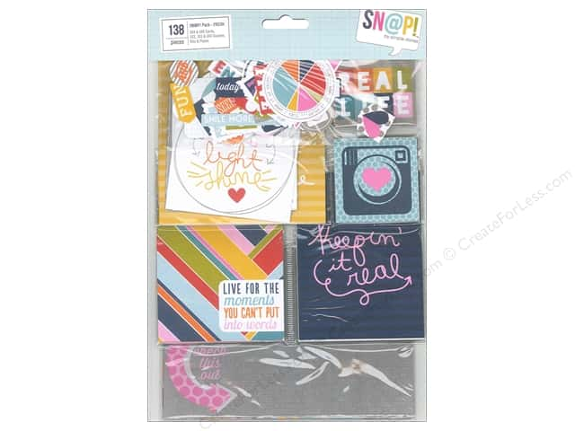Simple Stories Bits & Pieces SN@P! Pack Cards & Squares Fresh