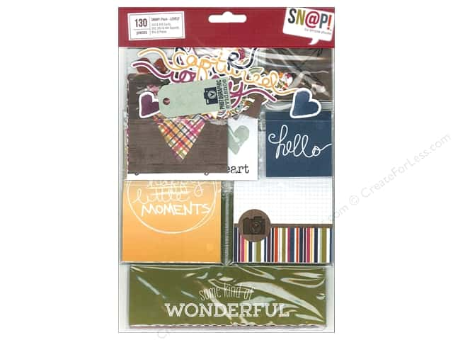 Simple Stories Bits & Pieces SN@P! Pack Cards & Squares Lovely