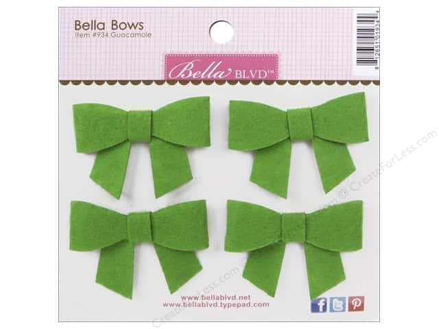 Bella Blvd Stickers Bella Bows Color Chaos Guacamole
