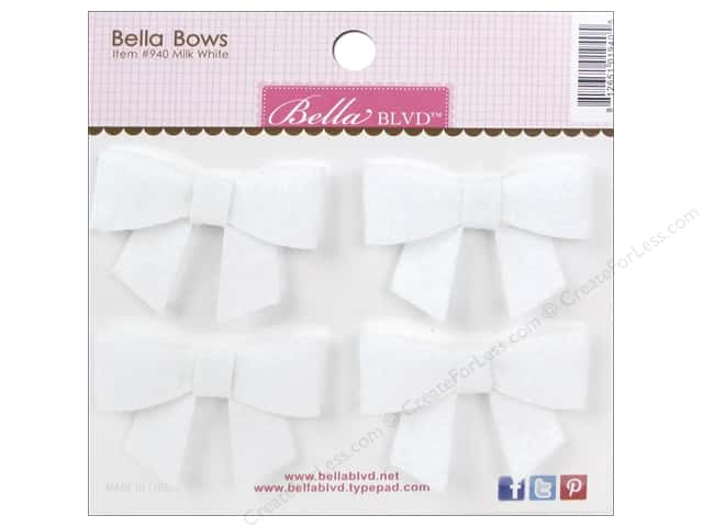 Bella Blvd Stickers Bella Bows Color Chaos Milk White