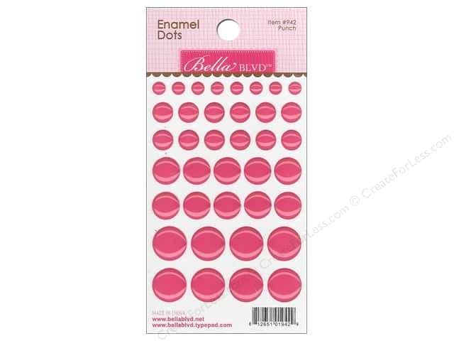 Bella Blvd Enamel Dots Stickers Color Chaos Punch
