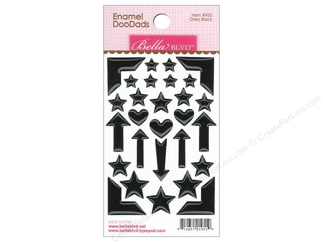 Bella Blvd Enamel Doodads Stickers Color Chaos Oreo Black
