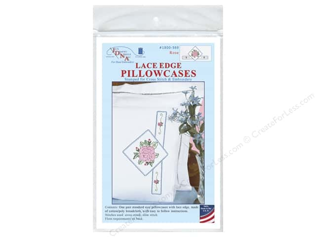 Jack Dempsey Pillowcase Lace Edge White Rose
