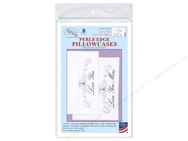 Jack Dempsey Pillowcase Perle Edge White Love You More
