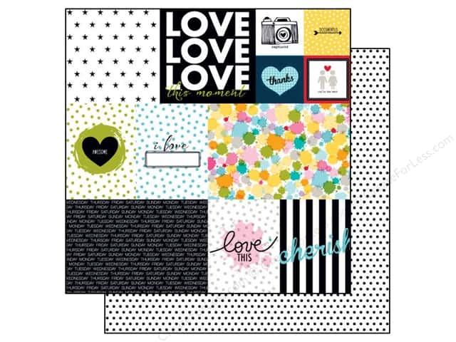 Bella Blvd 12 x 12 in. Paper Color Chaos Daily Details (25 sheets)