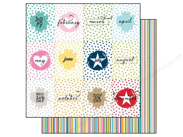 Bella Blvd 12 x 12 in. Paper Color Chaos Months (25 sheets)