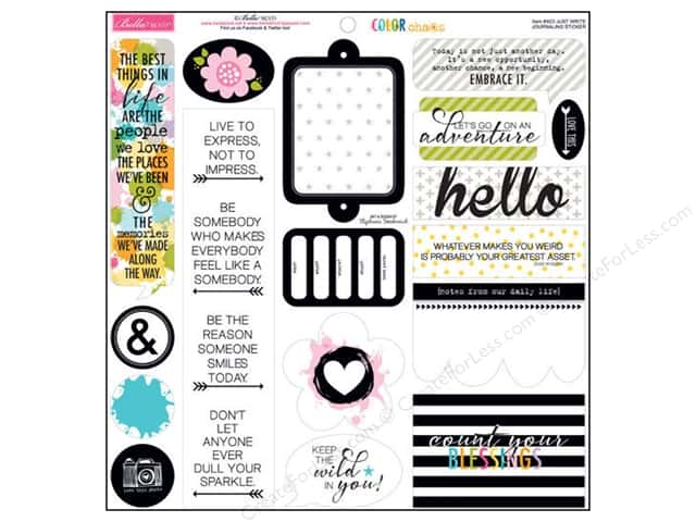 Bella Blvd Stickers Color Chaos Journaling Just Write (12 sets)